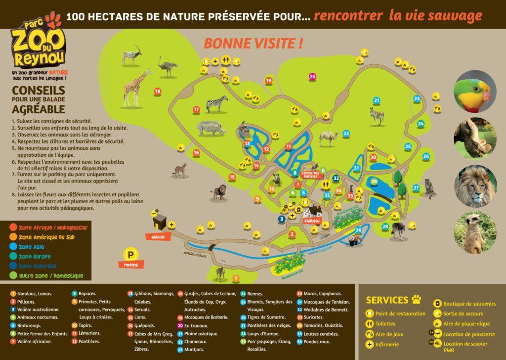 plan parc zoo reynou